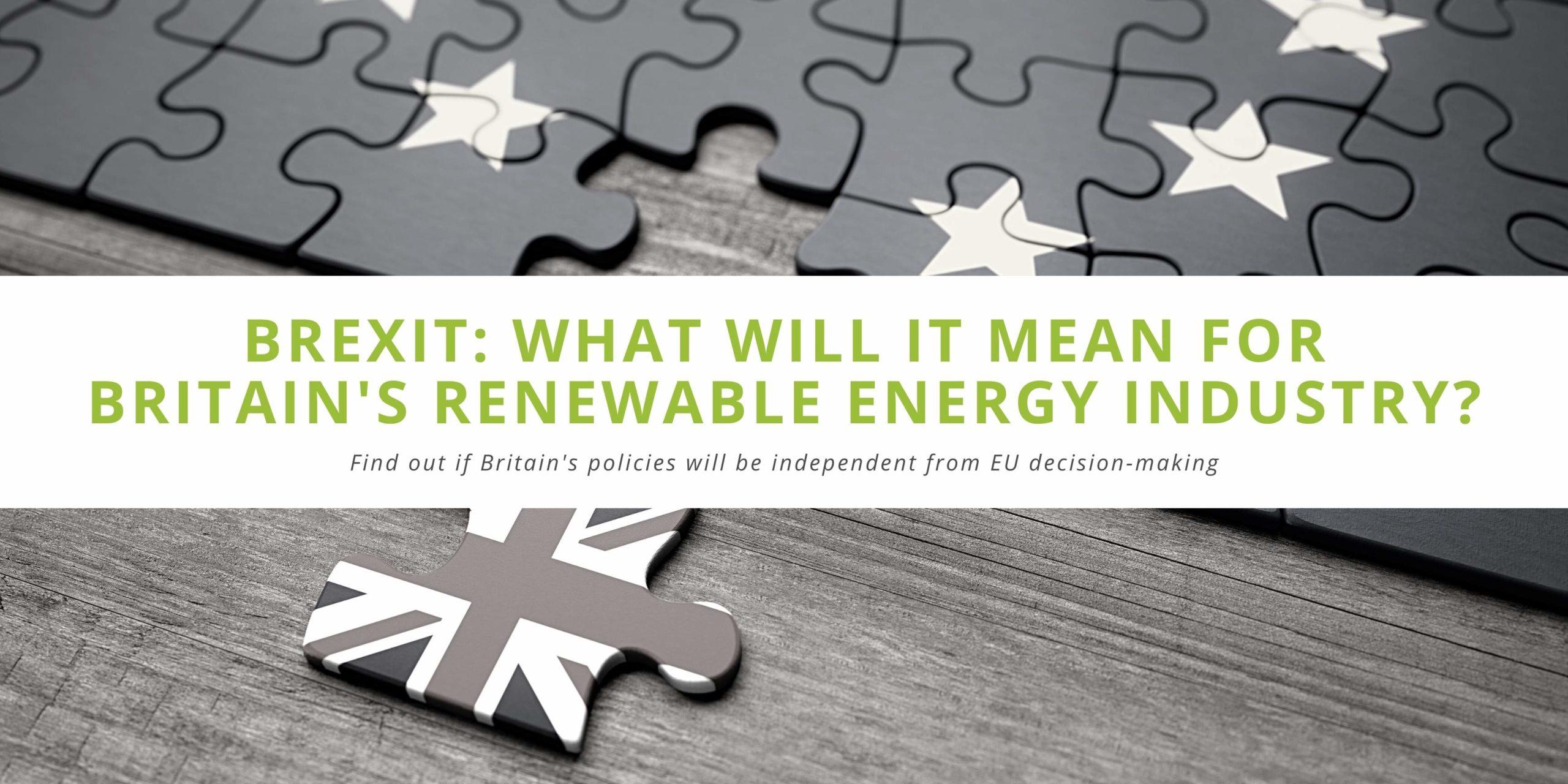 Brexit Renewable Energy