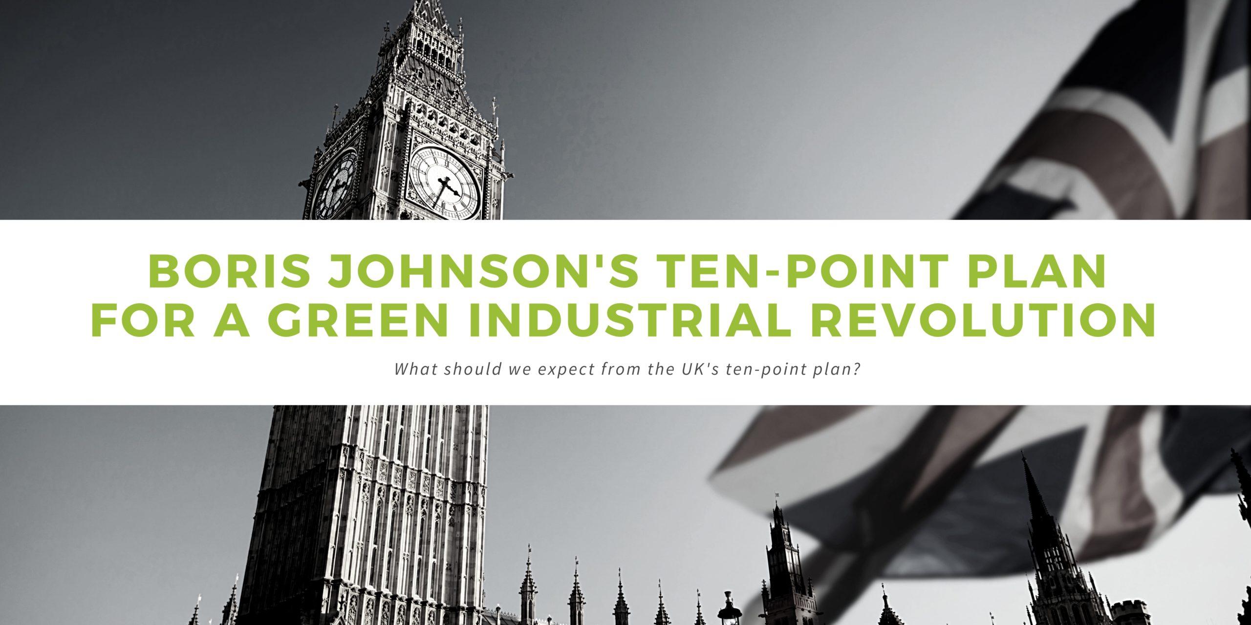 Boris Johnson's 10 point plan for a green revolution